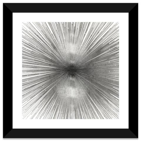 iCanvas Radiant Silver by Abby Young Framed Fine Art Paper Print