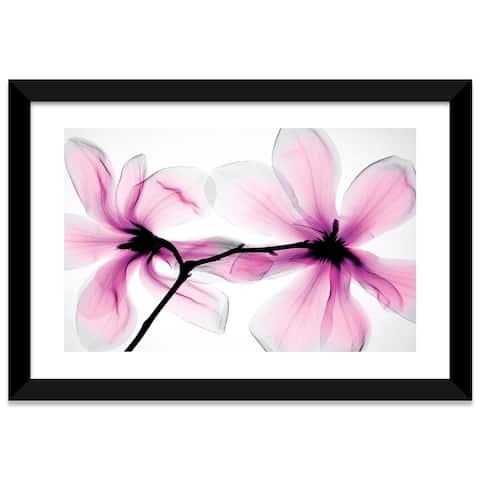 "iCanvas ""Magnolias II"" by Hong Pham Framed Fine Art Paper Print"