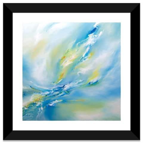"iCanvas ""Blue Flush"" by J.A Art Framed Fine Art Paper Print"