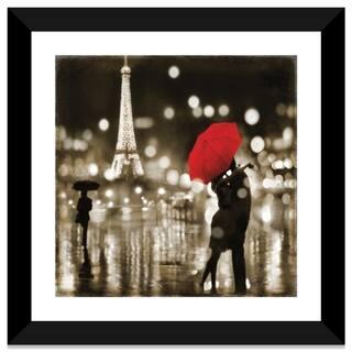 "iCanvas ""A Paris Kiss"" by Kate Carrigan Framed Canvas Print"