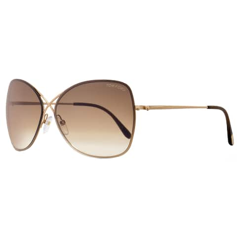 cc619fb22c993 Tom Ford TF250 Colette 28F Women s Rose Gold Brown Gradient Lens Sunglasses