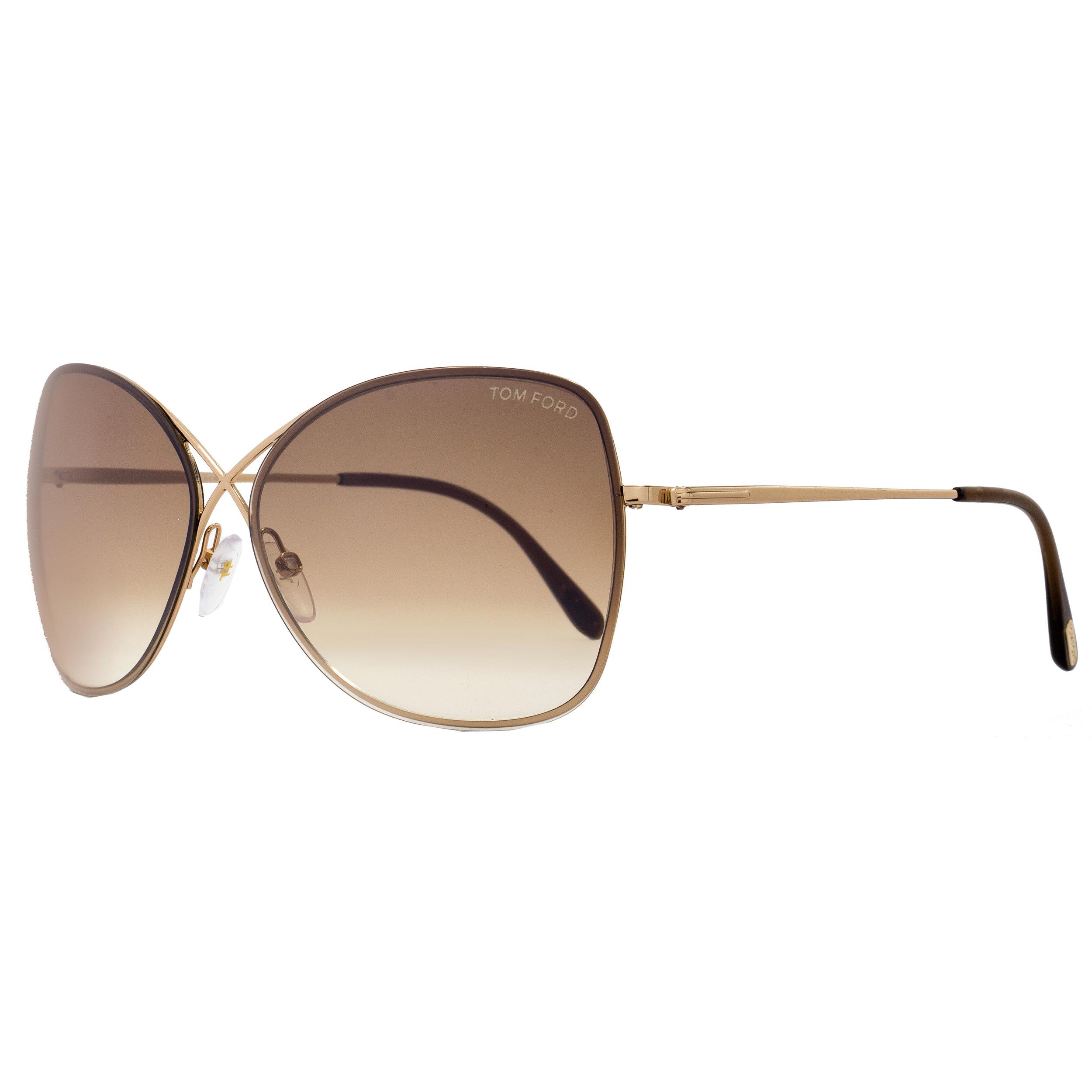 Tom Ford Tf250 Colette 28f Women S Rose Gold Brown Gradient Lens Sunglasses