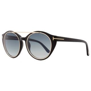 Tom Ford TF383 Joan 01W Women's Black/Rose Gold/Blue Gradient Lens Sunglasses