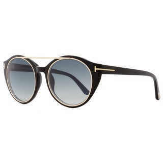 Tom Ford TF383 Joan 01W Women's Black/Rose Gold/Blue Gradient Lens Sunglasses