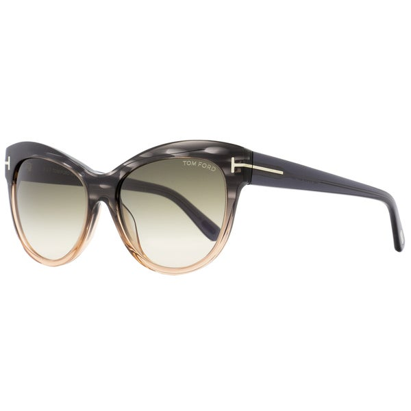 0cc0c11ae7 Shop Tom Ford TF430 Lily 20P Women s Melange Gray Peach Rose Green Gradient  Lens Sunglasses - Free Shipping Today - Overstock - 18221895