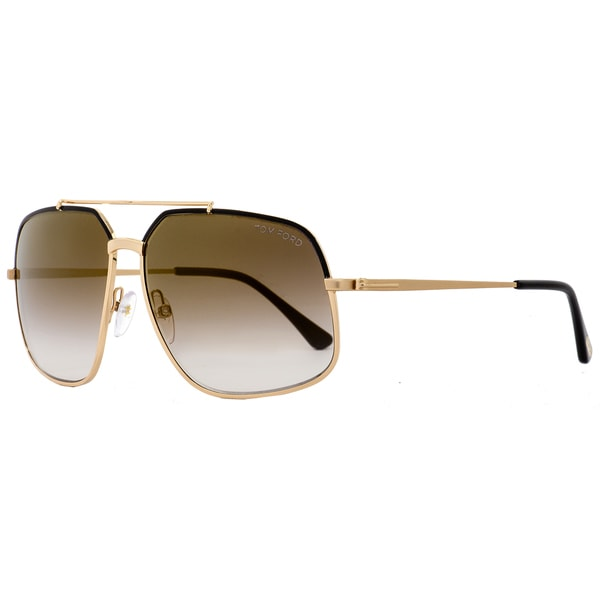ea64719bd3 Shop Tom Ford TF439 Ronnie 01G Women s Rose Gold Black Brown Gradient Lens  Sunglasses - Free Shipping Today - Overstock - 18221898