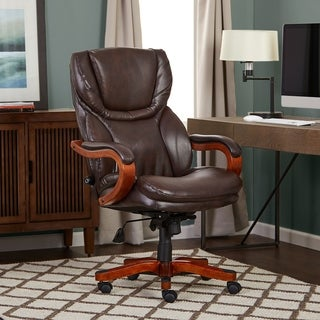 Serta Big and Tall Executive Office Chair, Bonded Leather