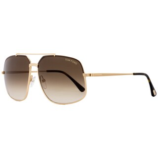 Tom Ford TF439 Ronnie 48F Women's Rose Gold/Brown/Brown Gradient Lens Sunglasses