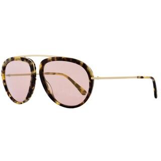Tom Ford TF452 Stacy 53Z Women's Tortoise/Rose Gold/Rose/Gold Mirror Lens Sunglasses