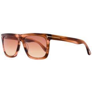 Tom Ford TF513 Morgan 68T Women's Striped Orange/Beige/Rose Gradient Lens Sunglasses