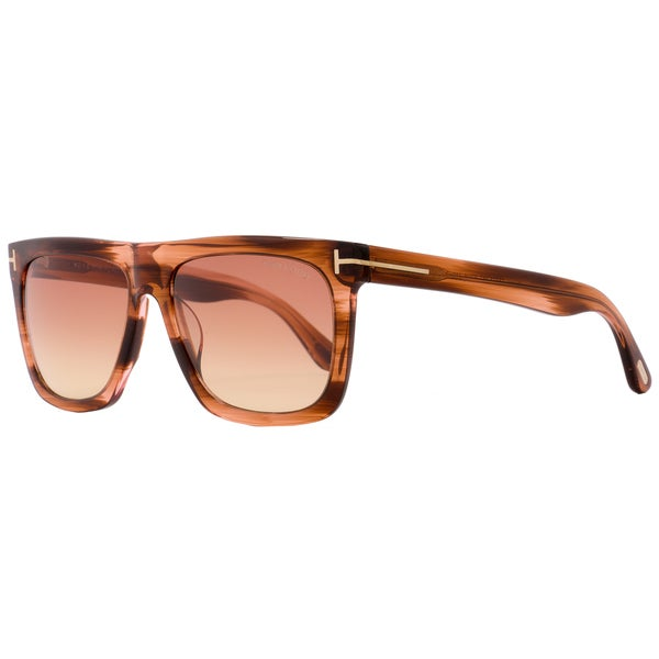 d0e0ab96bb9 Shop Tom Ford TF513 Morgan 68T Women s Striped Orange Beige Rose Gradient  Lens Sunglasses - Free Shipping Today - Overstock - 18221911