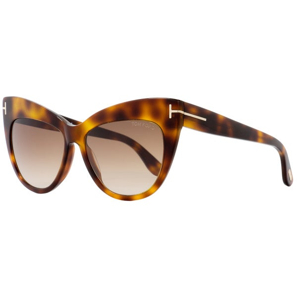 3df1004eea5 Shop Tom Ford TF523 Nika 53F Women s Dark Havana Burgundy Pink Gradient  Lens Sunglasses - Free Shipping Today - Overstock - 18221920