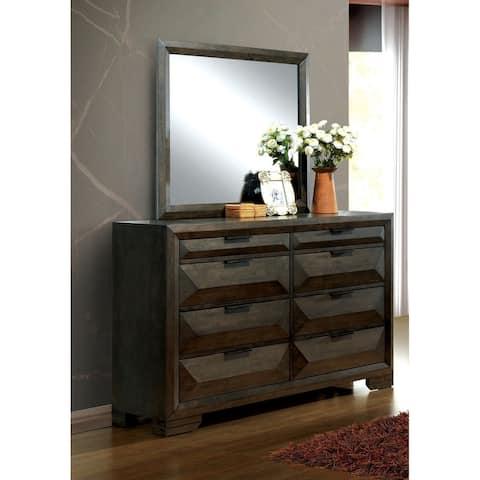 Furniture of America Gifa Espresso 2-piece Dresser and Mirror Set