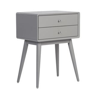 Elle Decor Rory French Grey 2-drawer Side Table