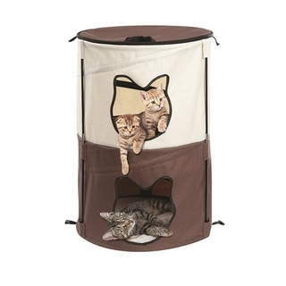 Pop Up Kitty Condo 2 Story Travel Portable Cat House