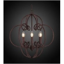 Sofia Round Antiqued Rust-Finish Candle-Style Chandelier