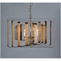 Gevalia Modern Candle Goldtone Brass Iron Round Chandelier