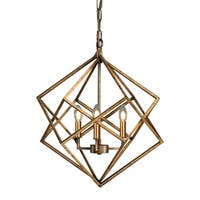 Vista Geometric Antique Gold FinishCandle Style Chandelier