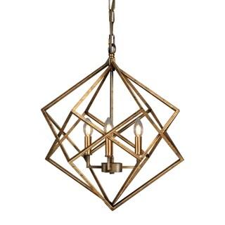 Vista Geometric Antique Gold FinishCandle Style Chandelier