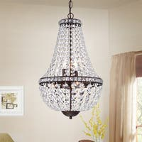 Uanah 6-Light Crystal Antique Black Chandelier