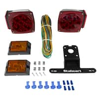 12V LED Trailer Light Kit, Submersible For Trailers Under 80 Feet- Includes Stop, Tail and Turn Signal Lights- by Stalwart