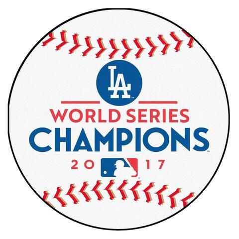 "Los Angeles Dodgers 2017 World Series Champions Baseball Mat 26"" diameter"