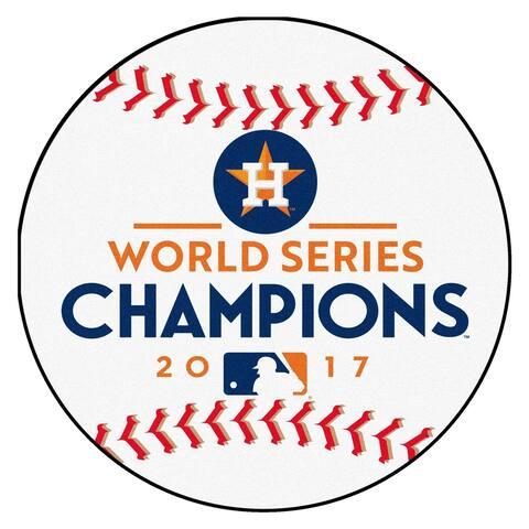 "Houston Astros 2017 World Series Champions Baseball Mat 26"" diameter"