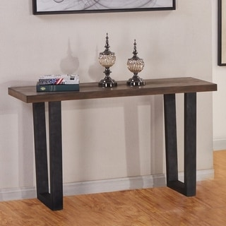 Best Quality Furniture Rustic Brown Console Table