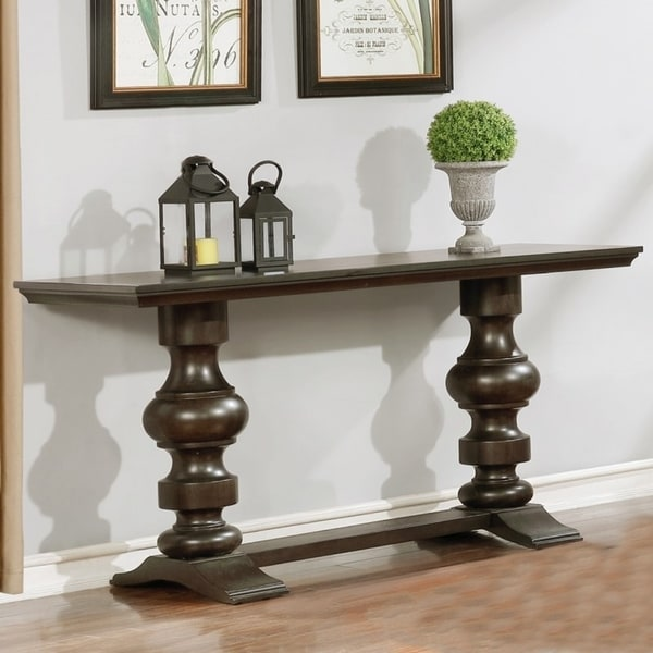 Beautiful Best Quality Furniture Cappuccino Trestle Console Table