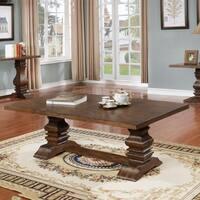Best Quality Furniture Walnut Trestle Coffee Table