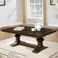 Best Quality Furniture Cappuccino Trestle Coffee Table