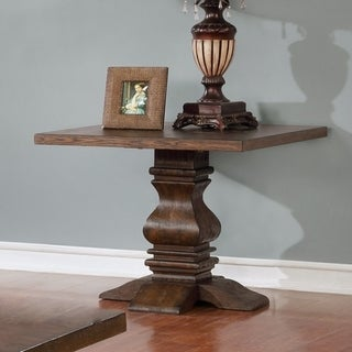 Best Quality Furniture Walnut Pedestal End Table