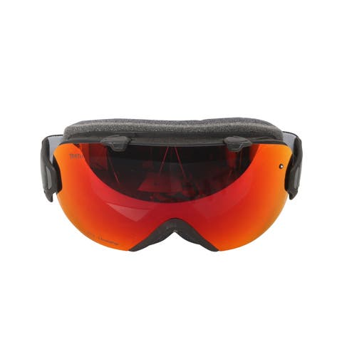 Smith Optics Womens I/OS Snowmobile Goggles - IS7CPRBK18 - Black/ChromaPop Sun Red Mirror