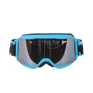 Smith Optics Cyan Slime Daredevil Youth Medium Fit Goggles with Ignitor Mirror Lenses