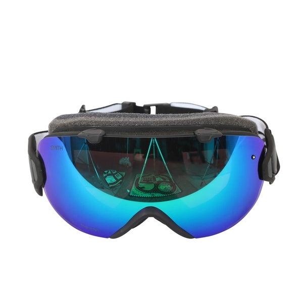 c3eafe30fa7 Smith Optics Womens I OS Snowmobile Goggles - Black ChromaPop Sun Green  Mirror -