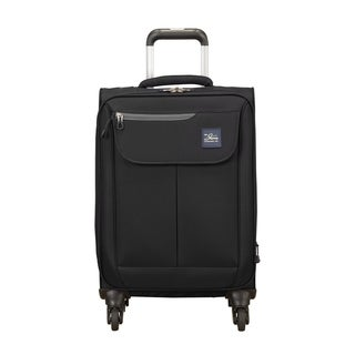 Skyway Mirage 2.0 Black 20-inch Expandable Carry On Spinner Suitcase