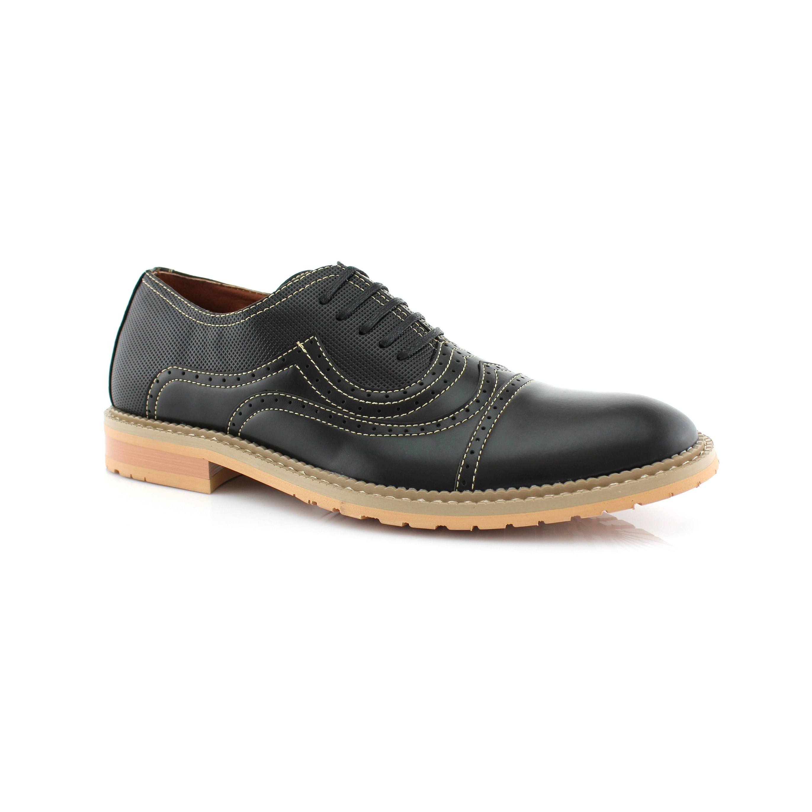 Ferro Aldo Xavier Mfa19382le Mens Oxford Dress Shoes With Lace Up Closure For Everyday Wear