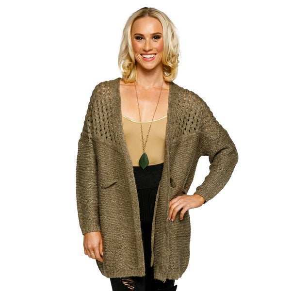 Xehar Womens Lightweight Open Front Tie Knit Warm Cardigan Sweater ...