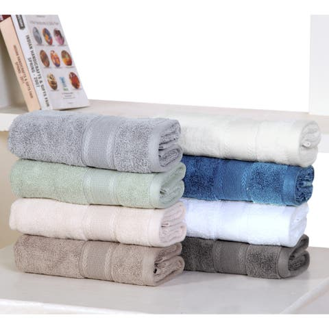 Ultra Soft Zero Twist Cotton Hand Towels (8 Pack)