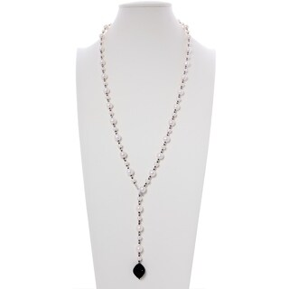 Freshwater Cultured Multi Size Pearl Necklace Cubic Zirconia Pendant