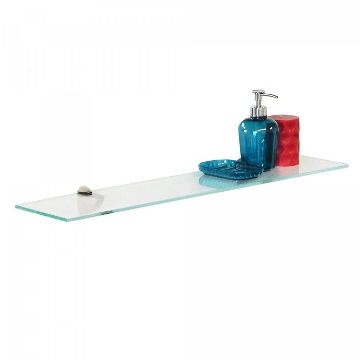 """8/""""X8/"""" Inch Clear Home Kitchen Trophy Glass Floating Shelves Shelf"""