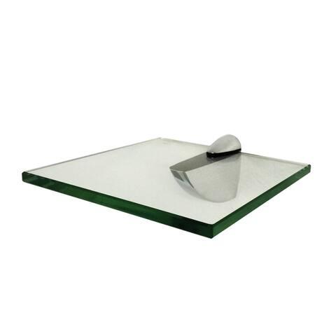 """Trophy Glass Shelf Kit 8"""" X 8"""" with Chrome Brackets"""