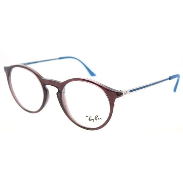 e3e1dfeccc4 Shop Ray-Ban Round RX 7132 5720 Unisex Opal Brown Frame Eyeglasses ...