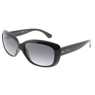 5104e05b93847 Ray-Ban Rectangle RB 4101 601 T3 Womens Shiny Black Frame Grey Gradient  Polarized