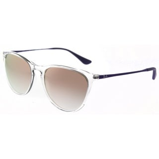 Ray-Ban Round RJ 9060S 7030B9 Womens Trasparent Frame Pink Mirror Lens Sunglasses