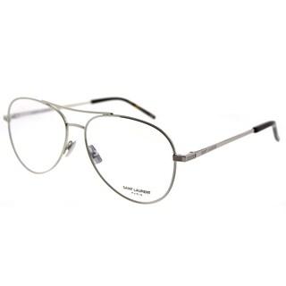 Saint Laurent Aviator SL 153 003 Unisex Silver Frame Eyeglasses