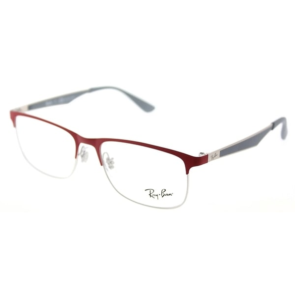 Shop Ray-Ban Rectangle RY 1052 4059 Children\'s Silver Matte Red ...