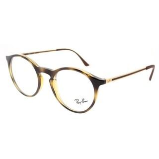 Ray-Ban Round RX 7132 2012 Unisex Havana Frame Eyeglasses
