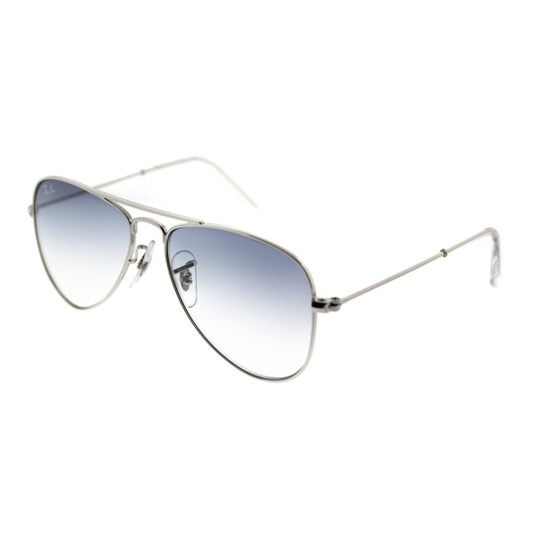 8dd22f1106 Shop Ray-Ban Junior Aviator RJ 9506S 212 19 Children s Silver Frame ...