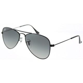 Ray-Ban Aviator RJ 9506S 220/11 Children's Shiny Black Frame Grey Gradient Lens Sunglasses
